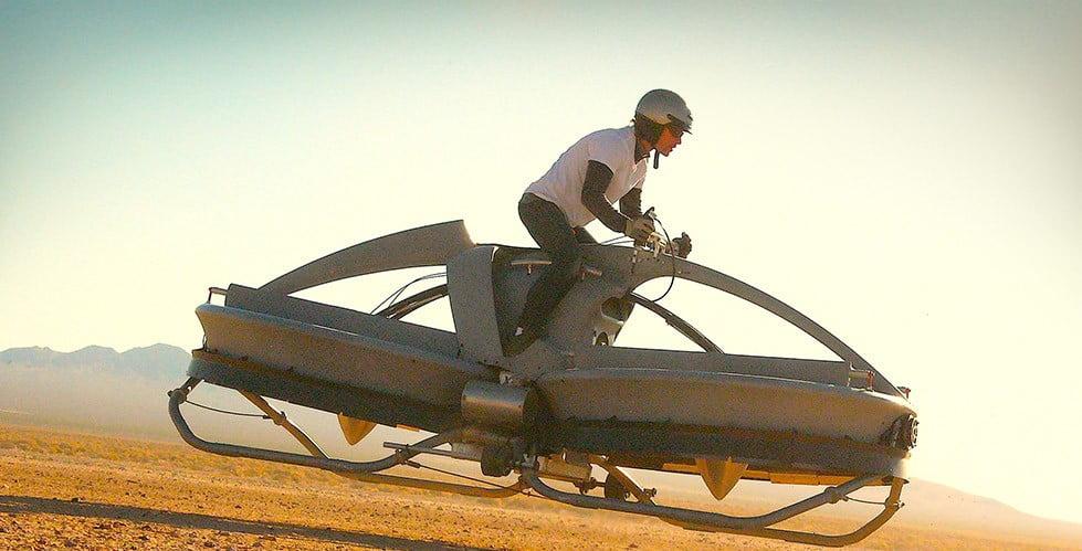 Vliegende fiets/auto – Aero-X Hooverbike