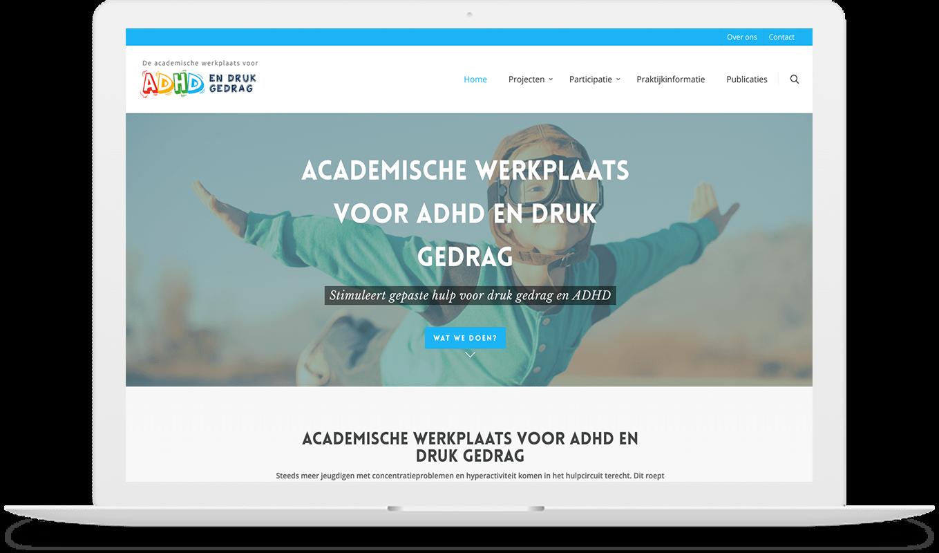 ADHD druk gedrag website macbook mockup