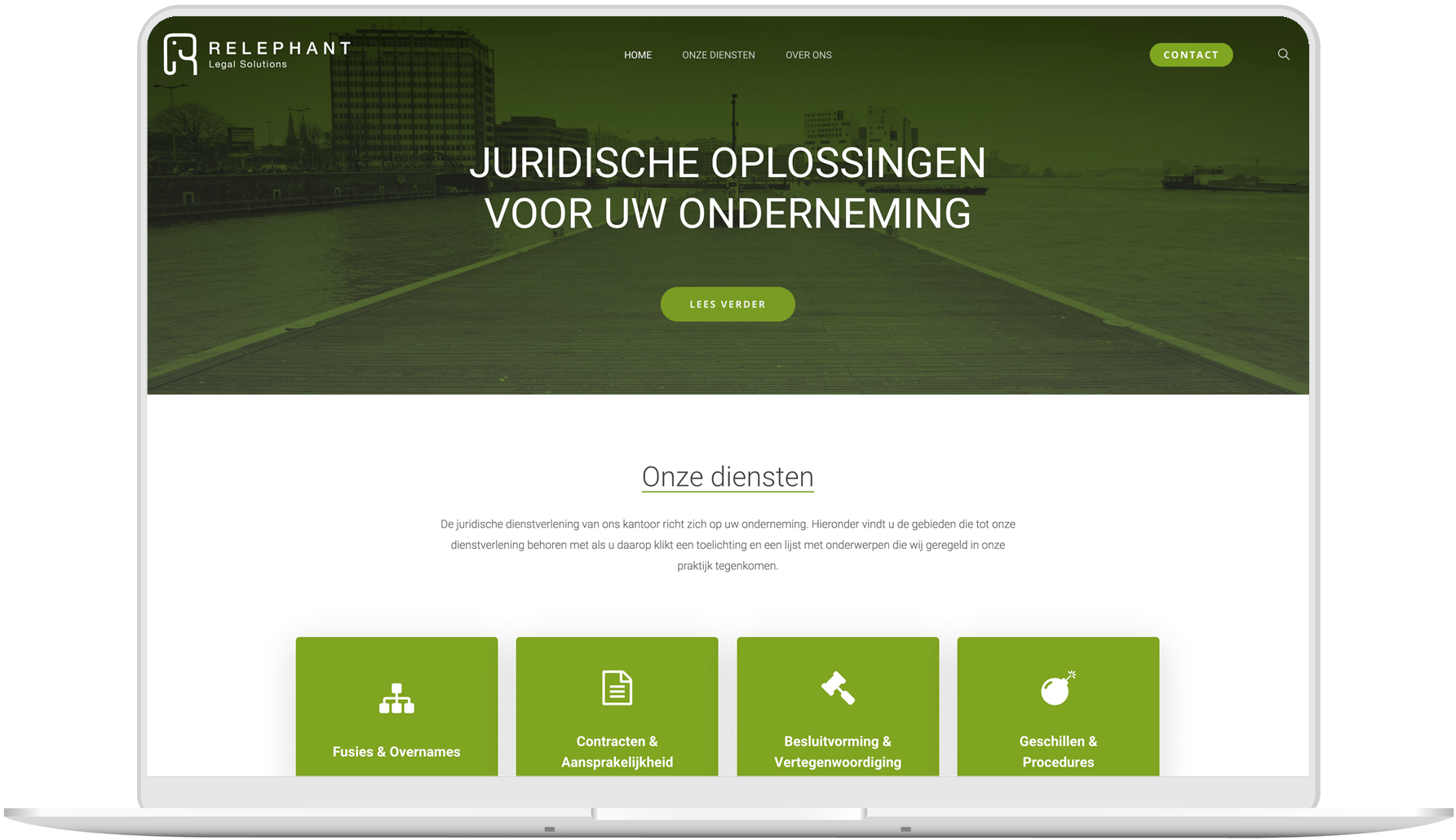 Advocatenkantoor website laten maken - Relephant Legal Solutions